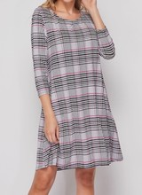 AccessHERize Glen Plaid Swing Dress