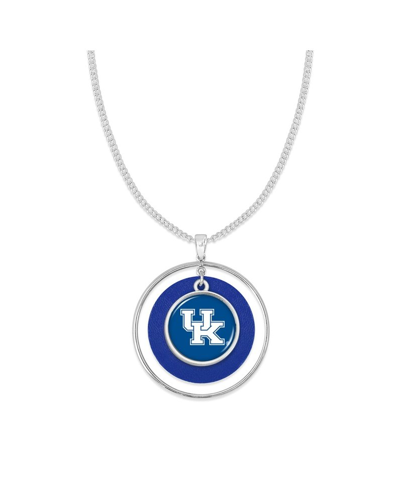 "AccessHERize UK Wildcats ""Lindy"" Hoop Necklace"