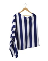 Tickled Pink Wide Stripe Gameday Poncho