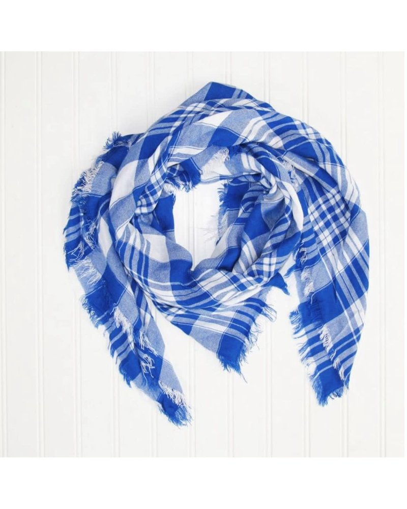 Tickled Pink Square Plaid Gameday Scarf