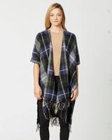 AccessHERize Plaid Kimono with Fringe