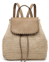 AccessHERize Straw Textured Backpack