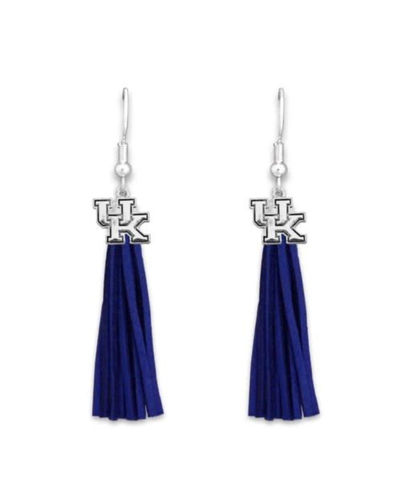 AccessHERize Kentucky Wildcats Logo Tassel Earrings