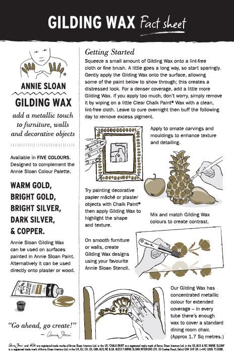 Annie Sloan America Bright Gold Gilding Wax