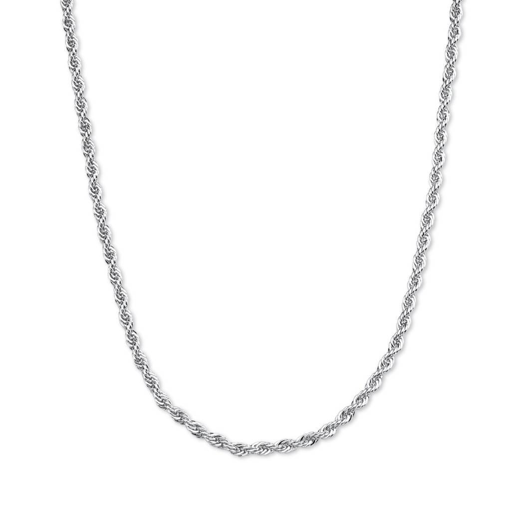 Silver NHR514 14 Rope Chain