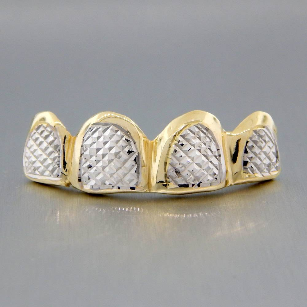 4 Fronts Diamond Cut Rhodium