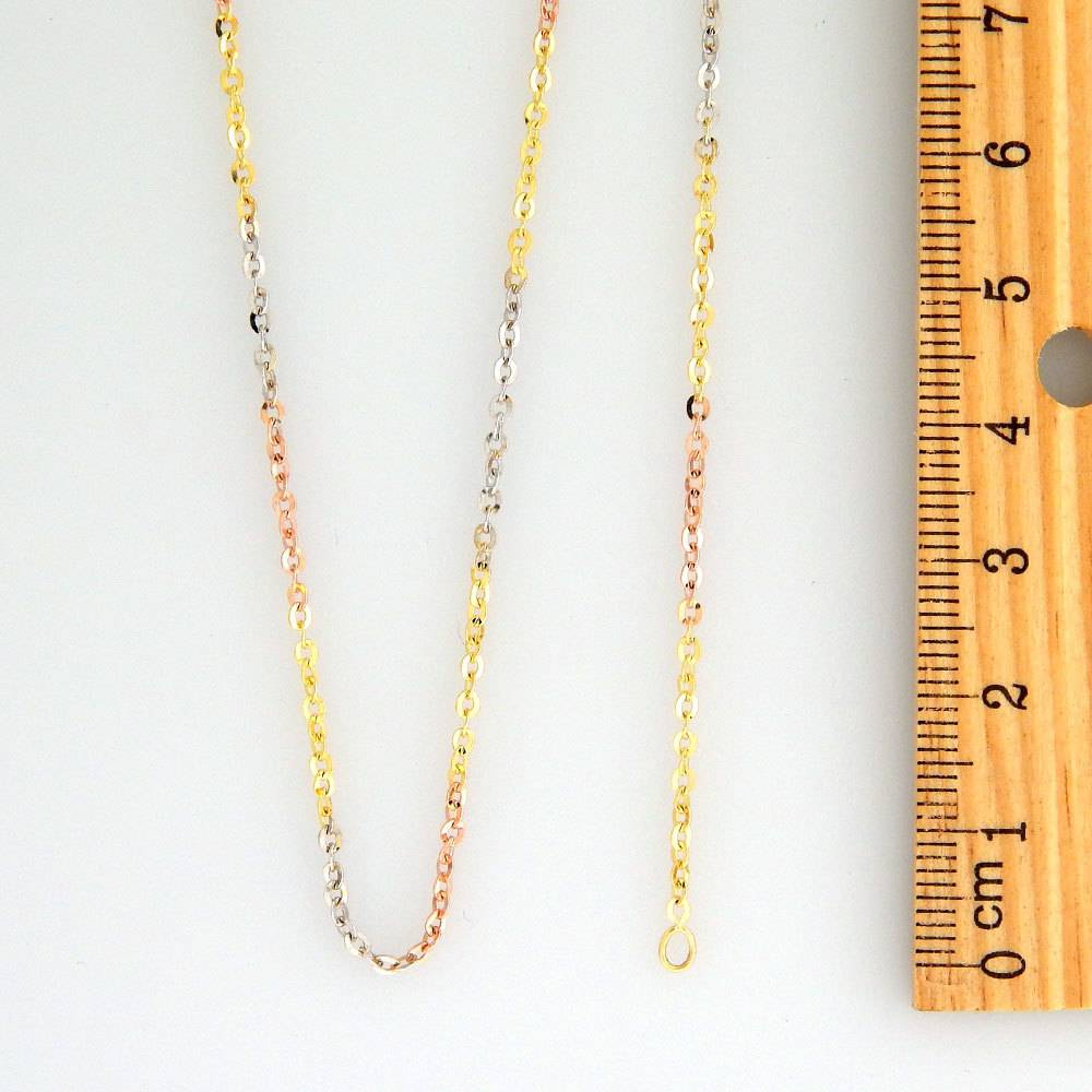 10k Fancy Tricolor CF1028A Chain