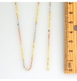 10k Fancy Tricolor CF1028A Chain