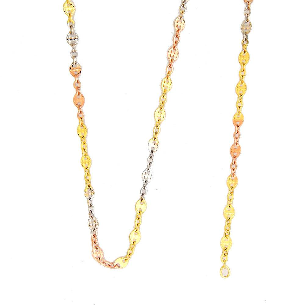 10k Fancy Tricolor CF1028B Chain