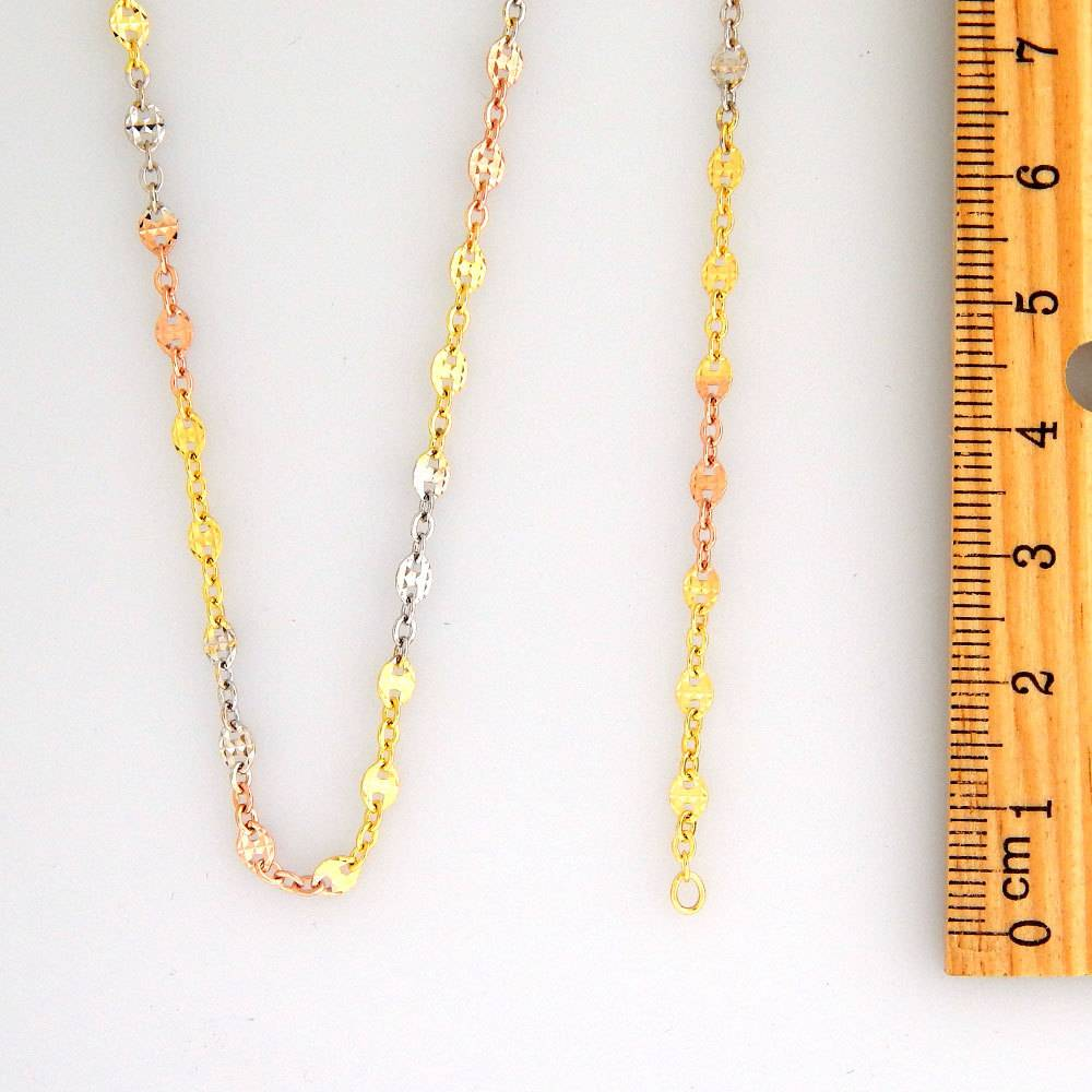10k Fancy Tricolor CF1028B Chain