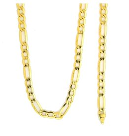 10k Gold Figaro Link NFI816 Chain