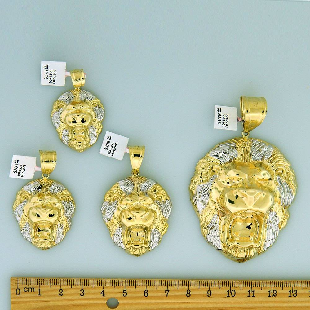10k Gold Lion PL749 Pendant