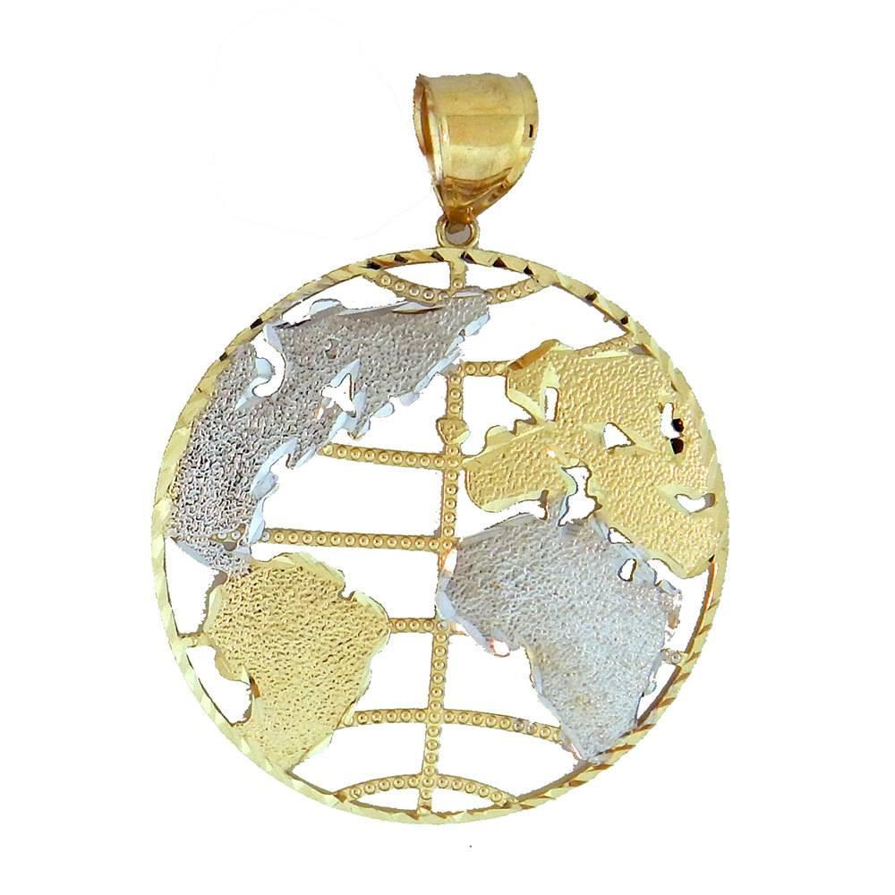 10k Gold Globe PL4723 Pendant