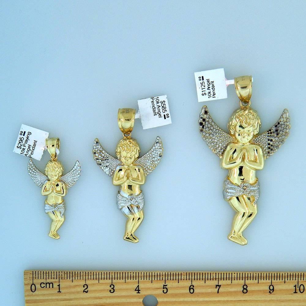 10k Gold Praying Angel Pendant