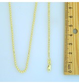 10k Gold Mooncut CR128 Chain