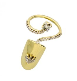 14k 0.43ctw Diamond Nail Ring