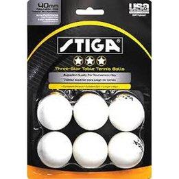 Stiga Ping Pong Balls 3* White (6)