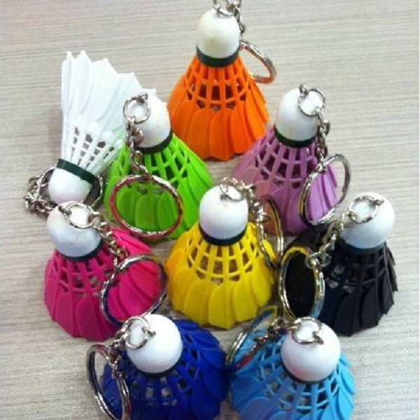 Badminton Shuttle Keychain