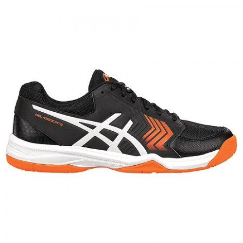 Asics Gel Dedicate 5 Homme - Noir/Blanc/Orange