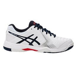 Asics Gel Game 6  White/Navy Blue