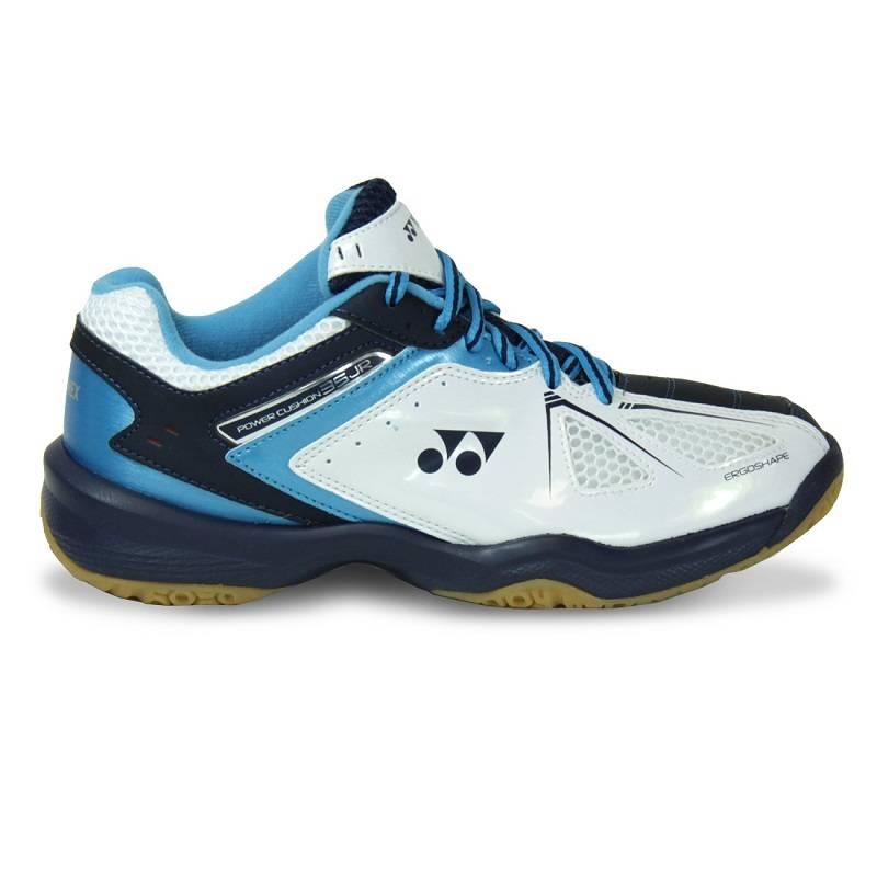 Yonex Power Cushion 35 Junior blanc-argent bleu