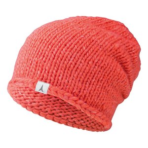 Womens AMT Basket Weave Beanie Hat - Coral - Ski Center LTD 0ece2f2dda9