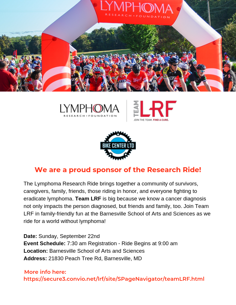 Lymphoma Research Ride