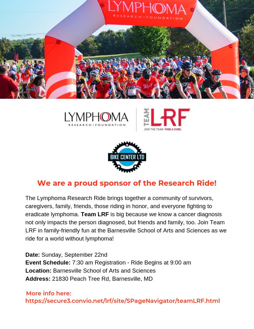 Lymphoma Research Ride