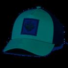 Turtle Fur Roots Run Deep Trucker: Light Turquoise