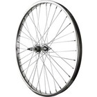Rear Wheel 24 inch Silver 6/7 Speed Bolt-on Hub, Steel Rim with Solid Axle 36 Spokes Include Axle Nuts