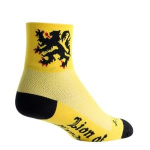 SockGuy Classic Lion of Flanders Socks - 3 inch, Yellow, Large/X-Large