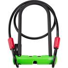 "Abus Abus Ultra 410 U-Lock - 3.9 x 9"", Keyed, Black/Green, Includes Cobra cable"