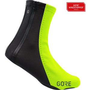 GORE C5 WINDSTOPPER®Thermo Overshoes - Neon Yellow/Black, Fits Shoe Sizes 11-13