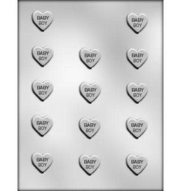 "CK Products ""Baby Boy"" Heart Chocolate Mold - 1"""
