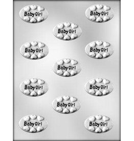 "CK Products ""Baby Girl"" Oval Chocolate Mold - 1-7/8"""