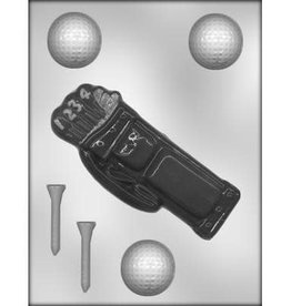 CK Products Golf Bag and Balls Chocolate Mold