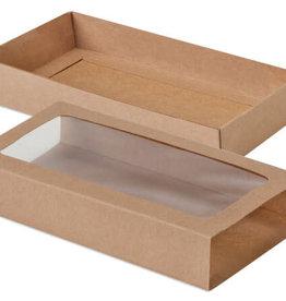 "Nashville Wraps Kraft Slide Open Candy Box Set, 8x4.25x1"""