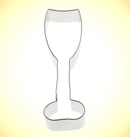 "Wine / Champagne Glass Cookie Cutter (5"")"