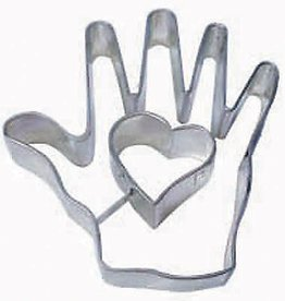 R and M Heart in Hand Cookie Cutter