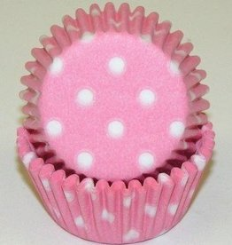 Viking Pink (Light) Polka Dot Baking Cups Mini(40-50ct)
