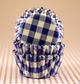 CK Blue Gingham Baking Cups Mini (40-50ct)