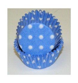 Viking Blue (Light) Polka Dot Mini Baking Cups (40-50ct)