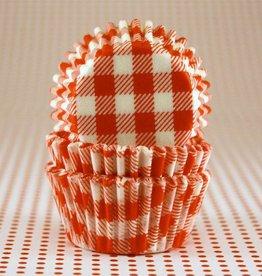 CK Orange Gingham Baking Cups Mini (40-50ct)