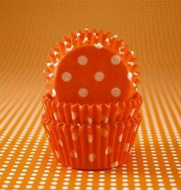 CK Orange Polka Dot Baking Cups Mini (40-50ct)