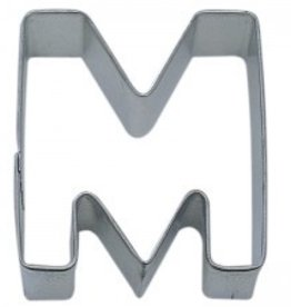 "R and M Letter ""M"" Cookie Cutter"