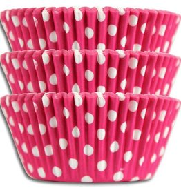 CK Hot Pink Polka Dot Baking Cups