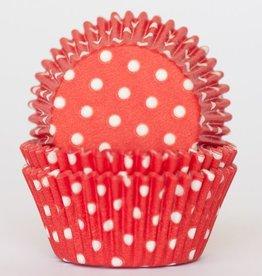 CK Red Polka Dot Baking Cups Mini (40-50ct)