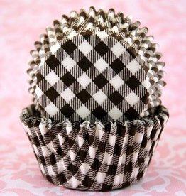 CK Black Gingham Baking Cups Mini (40-50ct)
