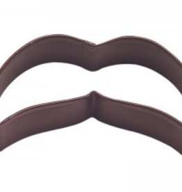 "R and M Moustache Cookie Cutter B - coated steel (4"")"