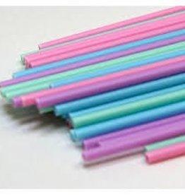Deco Pack Plastic Sucker Sticks (6 inch Pastel)